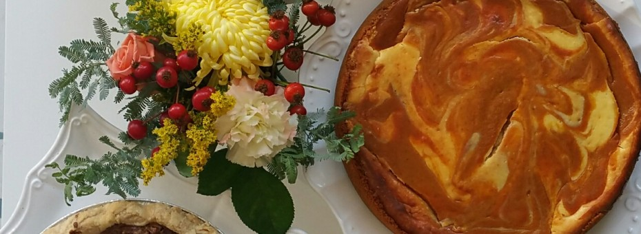Holiday cake and pies